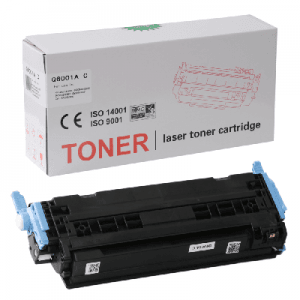 HP Q6001 Mavi Muadil Toner